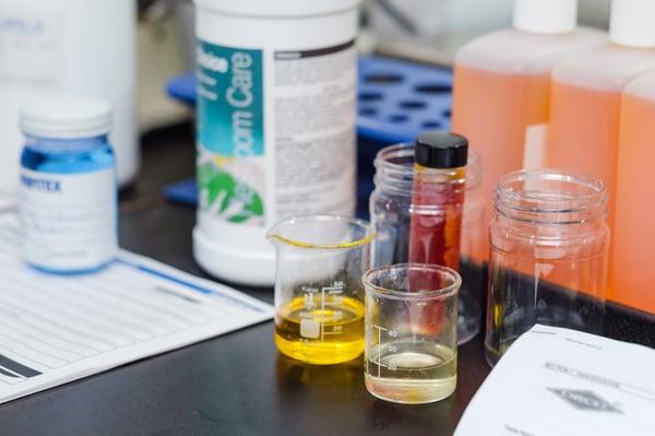 Maintex Lab Chemicals and Beakers-2