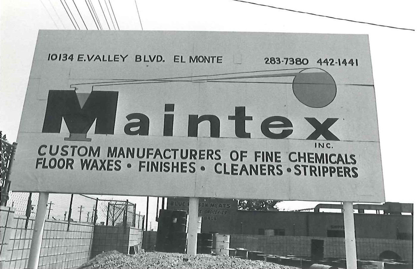 Old sign and logo